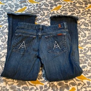 7FAM A Pocket Bootcut Jeans EUC Size 29 ALTERED
